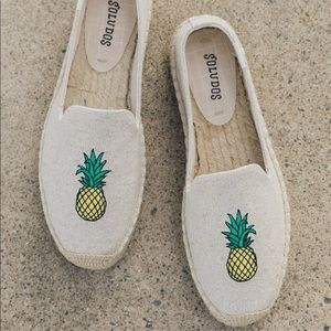 Soludos pineapple espadrilles loafers